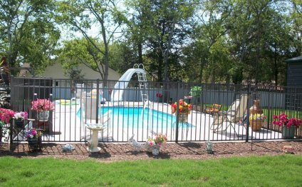 Black Aluminum Fencing For