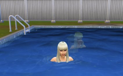 When my sims move in the pool