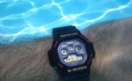 Casio G-Shock swimming pool