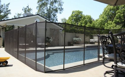 Removable pool fencing in
