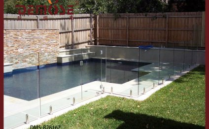 Security glass fencing for