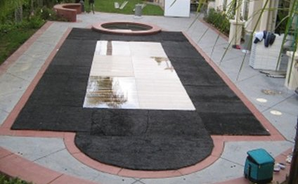 Flat Pool Cover with Plexi