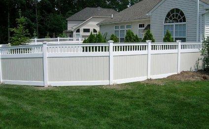 This type of white vinyl fence