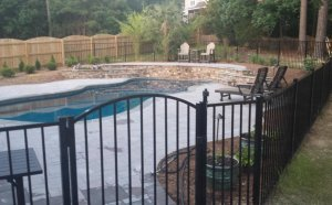 In ground pool fence pool care solutions for Swimming pool safety fence prices