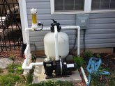 Cleaning sand filter