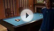 George is practicing speed pool at home