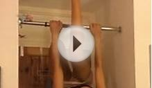 Hot Drunk Girl Pull Up Bar Fail