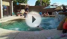 Kid drowning in a pool