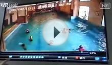 Kid nearly drowns in a Chinese pool