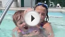 Kids Swimming in The Pool Compilation - Girls at The