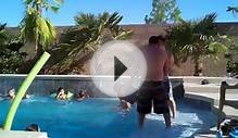 Little kid thrown into pool