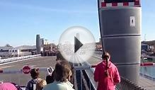 Opening of the Twin Sails Bridge in Poole Dorset uk