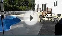 Pool Patio, Walkway, Safety Fence & Planting Edge Beds