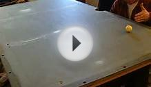Pool Table Install video 1-levelling table