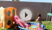Swimming Pool Ball Pit Play Fun with Slide and Ice Cream