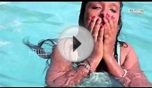 Young lady romance at swimming pool Latest 2015